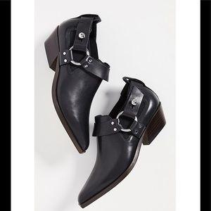 Rag & Bone Westin Harness Booties Black 7.5